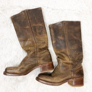 Frye Dark Brown Campus 14 Boots/Booties